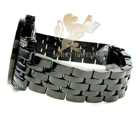 Mens joe rodeo black stainless steel tyler diamond watch 2.00ct jty15