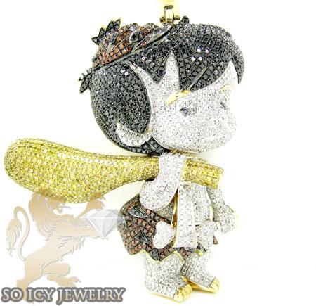 Bam bam 10k yellow gold diamond pendant 1000ct flintstone bam bam 10k yellow gold diamond pendant 1000ct aloadofball Images