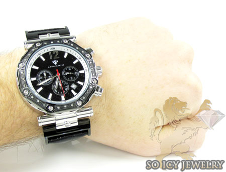 Mens aqua master diamond watch 0.20ct