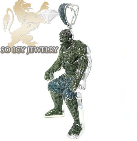 10k white gold green blue diamond pendant 2800ct hulk 10k white gold green blue diamond pendant 2800ct aloadofball Images