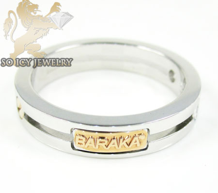 Mens baraka 18k white & rose gold diamond wedding band 0.30ct
