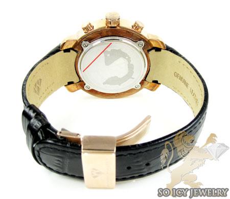 Mens aqua master two tone steel diamond watch 0.20ct