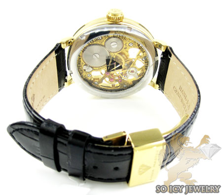 Mens aqua master yellow steel automatic 2 row diamond watch 3.50ct