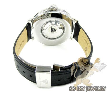 Mens aqua master full diamond case mechanical watch 5.64ct