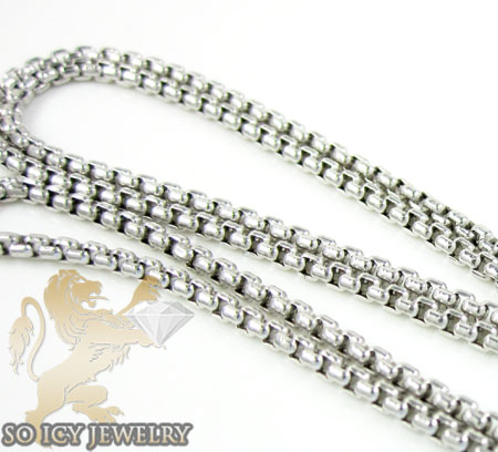 14k white gold box link chain 18-28 inch 1.5mm