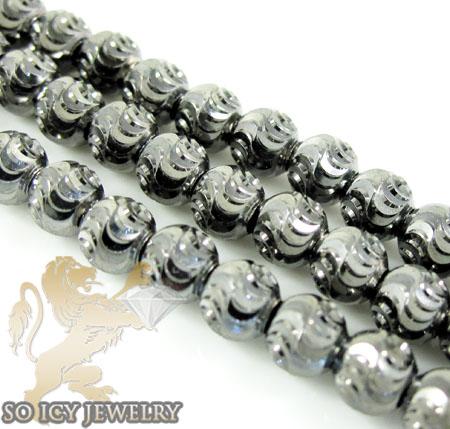 14k black gold diamond cut ball bead chain 16 inch 4mm