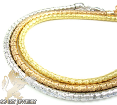 Ladies .925 silver diamond cut snake bracelet