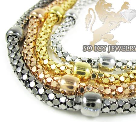 Ladies .925 silver fancy snake bracelet