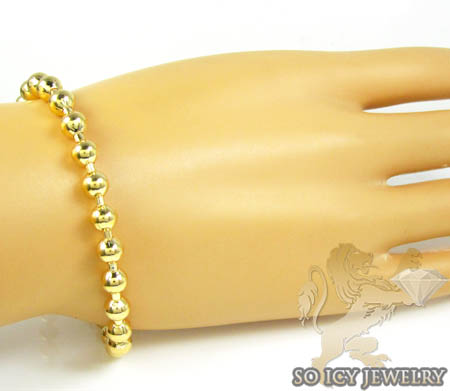 Ladies .925 silver ball bead bracelet