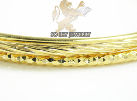 Ladies .925 yellow silver triple circle bangle bracelet