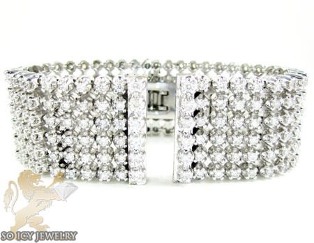 White stainless steel diamond breitling super avenger wrist band 7.00ct