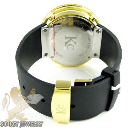 Yellow cz techno com kc digital big bezel watch 10.00ct