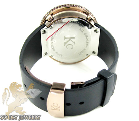 Red sapphire rose techno com kc digital watch 10.00ct