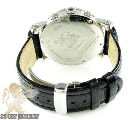 Mens diamond icelink ice king watch 2.75ct