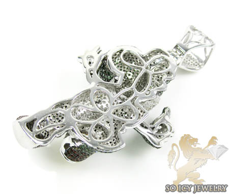 Yoshi 10k white gold diamond pendant 8.00ct