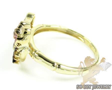 Diamond 0 Ladies Ring 10k Gold 25ct Hello Yellow Kitty 8kOPn0Xw