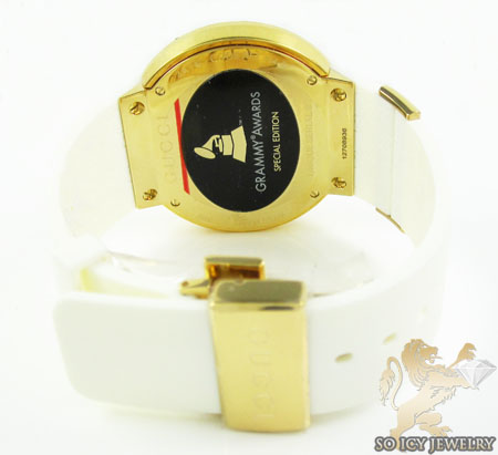 Mens canary diamond igucci digital grammy edition watch 2.00ct