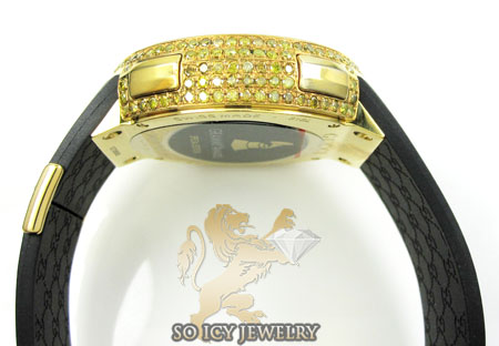 Mens full diamond case igucci digital grammy edition watch 5.00ct