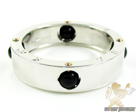 Mens baraka 18k white gold & black onyx ring