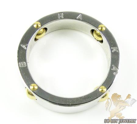 Mens baraka 18k white & yellow gold ring