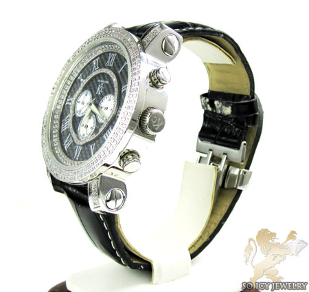 White diamond techno com by kc fancy watch 1.50ct
