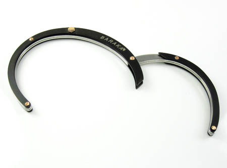 Mens baraka 18k rose gold & black ceramic bracelet