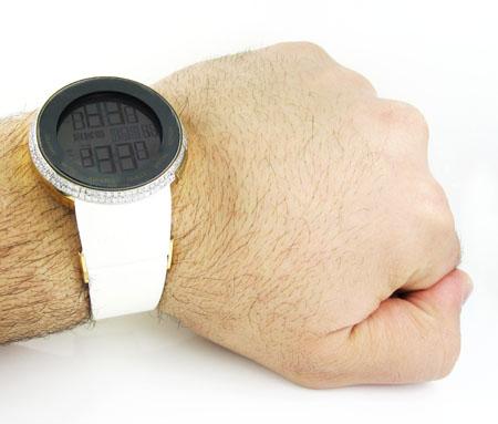 Mens diamond igucci digital grammy edition watch 2.00ct