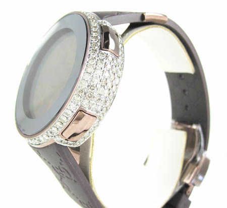 Mens full diamond case  igucci digital watch 5.50ct