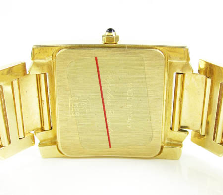 Ladies 14k yellow gold geneve automatic watch