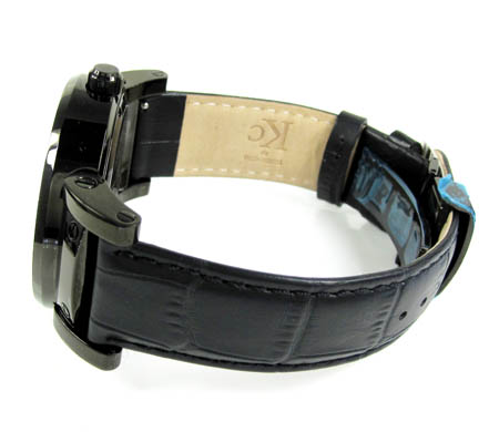 Techno com kc black diamond pearl watch 4.00ct