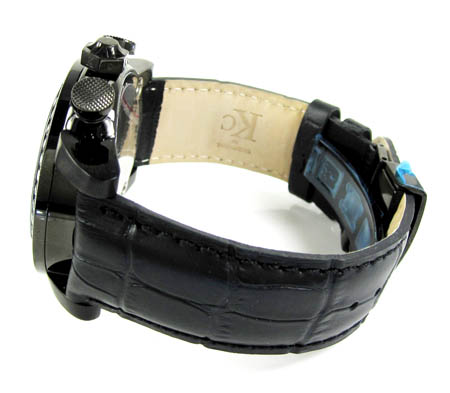 Techno com kc black diamond carbon fiber watch 3.50ct