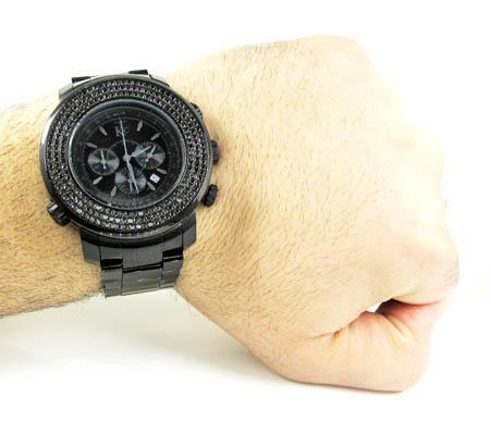 Techno com kc black diamond xl watch 4.25ct