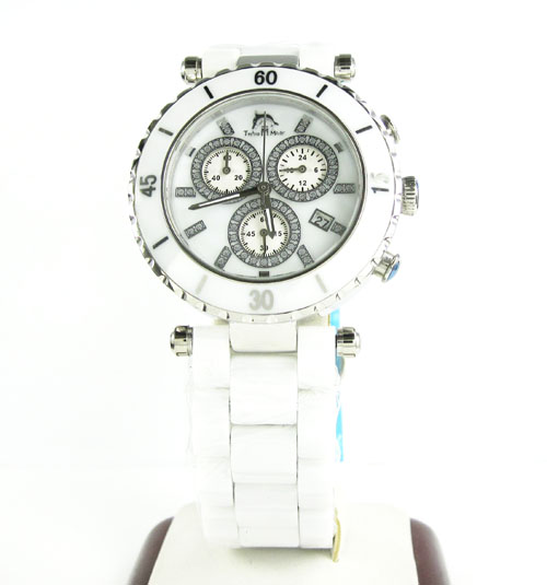 Ladies techno master white ceramic watch