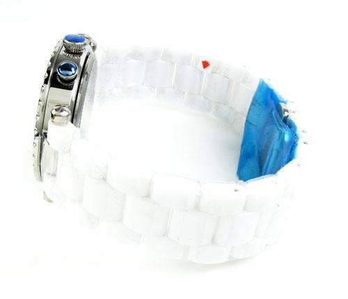 Ladies techno master white ceramic watch