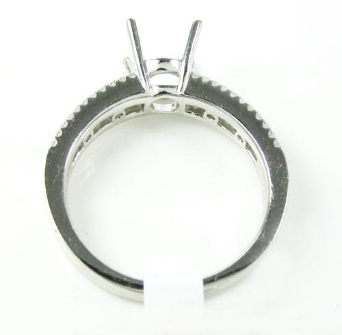 18k white gold round diamond semi mount ring 0.51ct