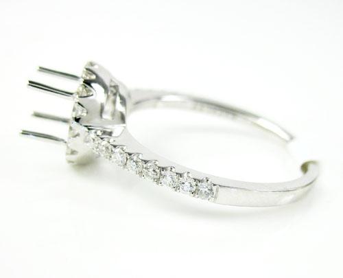 18k white gold round diamond semi mount ring 0.39ct