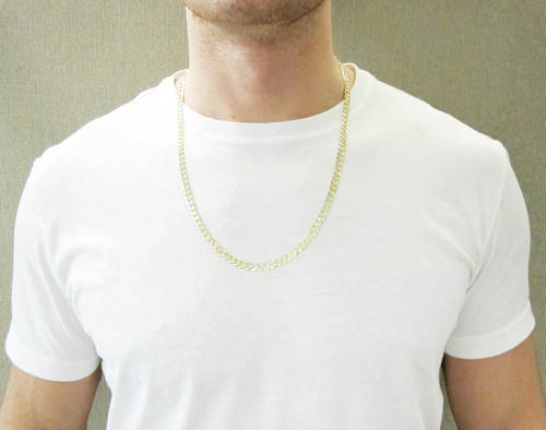 10k yellow gold cuban chain 20-26 inch 5.75mm