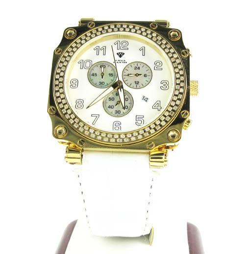 Mens aqua master cargo diamond watch 1.25ct