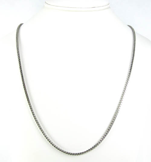925 white sterling silver franco link chain 36 inch 2.5mm