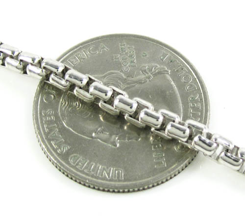 925 white sterling silver box link chain 24 inch 3.5mm