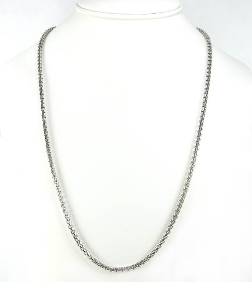 925 white sterling silver box link chain 20 inch 3.5mm