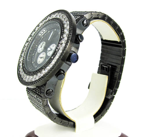 White & black cz techno com by kc fully iced out xl watch 25.00ct
