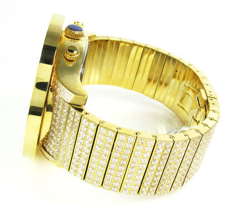 White cz techno com by kc fully iced out xl watch 28.00ct