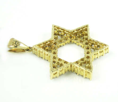 Unisex star of david diamond pendant 1.10ct