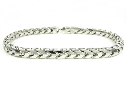 10k white gold solid franco link bracelet 8.75 inches 5.25mm