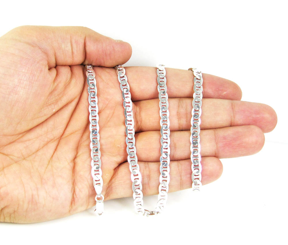 925 sterling silver anchor link chain 22 inch 5.50mm