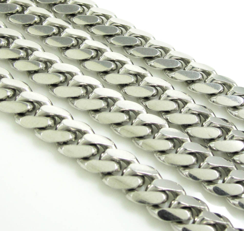 925 sterling silver miami link chain 18-30 inch 7mm