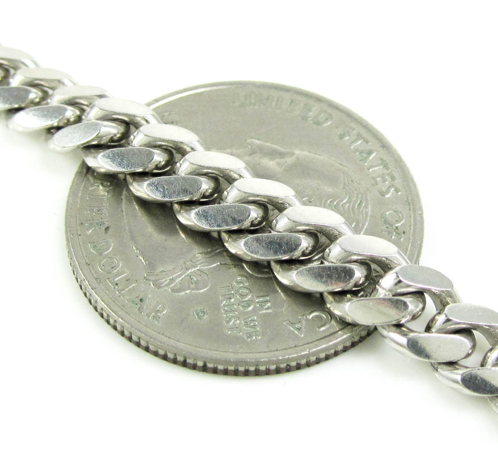 925 sterling silver miami link chain 20-30 inch 6mm