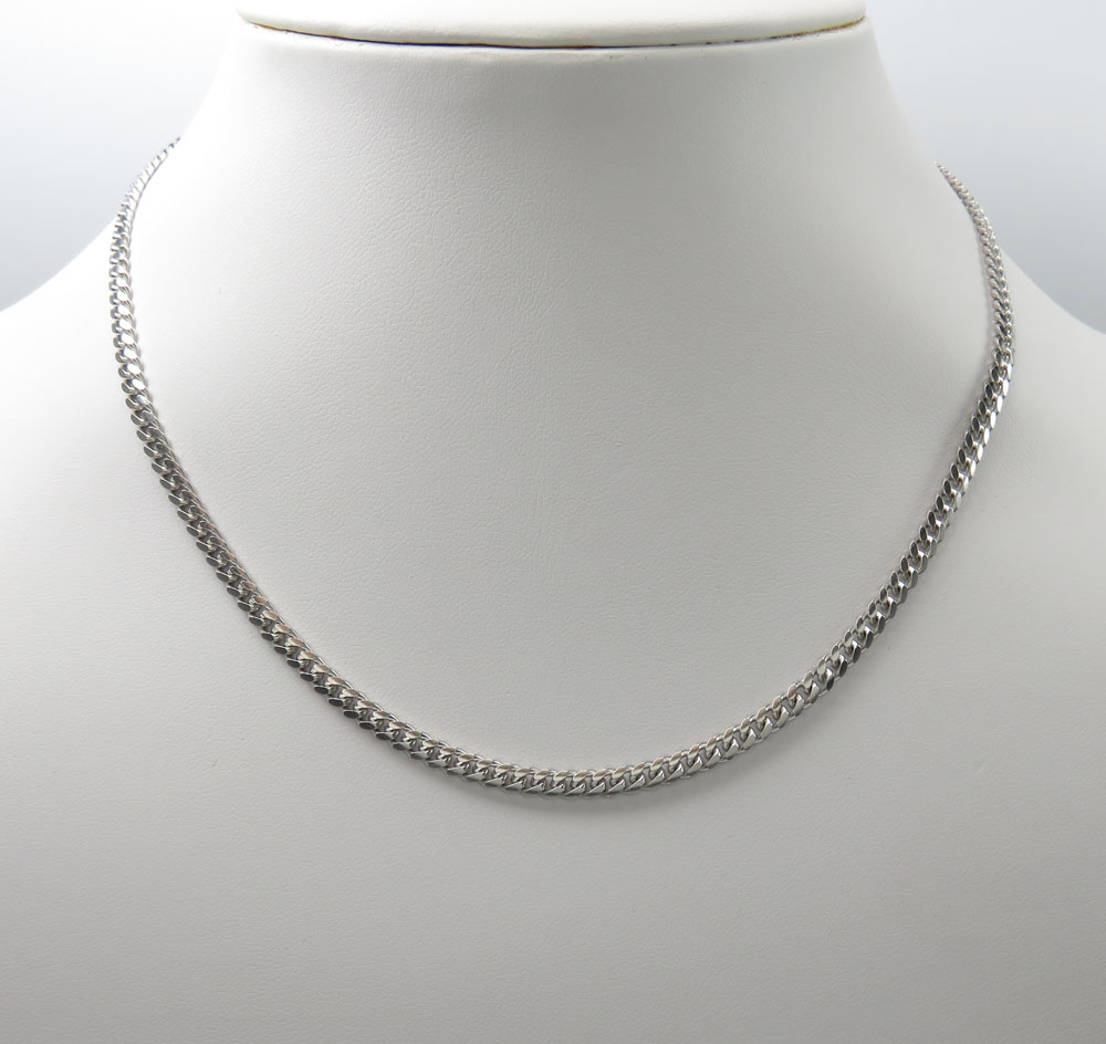 925 sterling silver miami link chain 22 inches 340mm