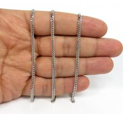 925 sterling silver miami link chain 20-26 inches 2.50mm